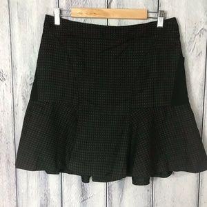 Worthington NWT Skirt Brown and Black Check A Line